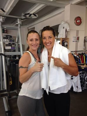 Mme Myriam LAMARE au Fight Club Gym Cannes